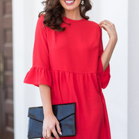 Dreaming Of The Day Dress, Tomato Red