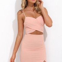 The Diva Moment Dress Peach
