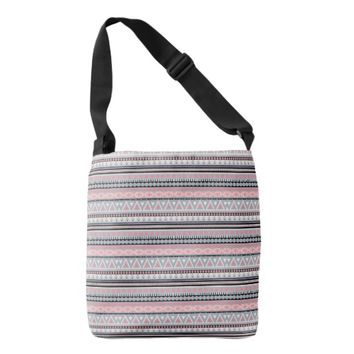 Tribal Pattern All-Over-Print Cross Body Bag