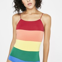 Right Time Rainbow Bodysuit