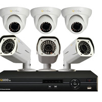 Reconditioned 8-Channel HD Security System with 6 HD 1080p Cameras QC918-6Y6-2R