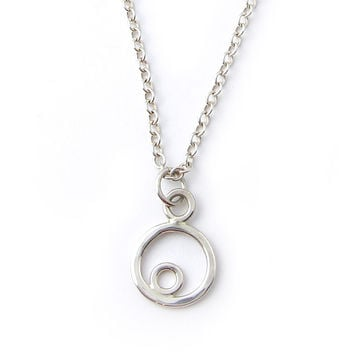 Tiny Double Circle Necklace