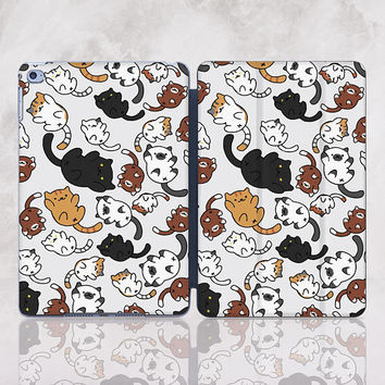 Cat iPad Case Smart Cover iPad Pro 9.7 Case iPad 5 Case Cute Smart Case iPad 9.7 Sleeve iPad Mini Case iPad Air 2 Case iPad Pro 10.5 RD4003