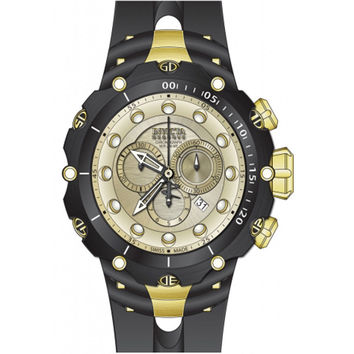Invicta 80480 Men's Venom Reserve Chronograph Champagne Dial Rubber Strap Dive Watch
