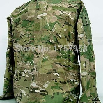 USMC Military US Camouflage Multi Camo BDU Uniform Set Multi Camo Shirts and Pants