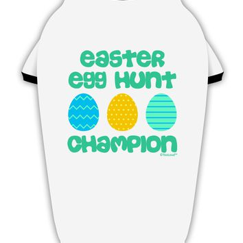 Easter Egg Hunt Champion - Blue and Green Stylish Cotton Dog Shirt by TooLoud