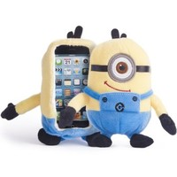 iPlush Despicable Me Yellow Minion Plush Toy CellPhone Case (iPhone 5 5s 5C iTouch 5, One Eye)