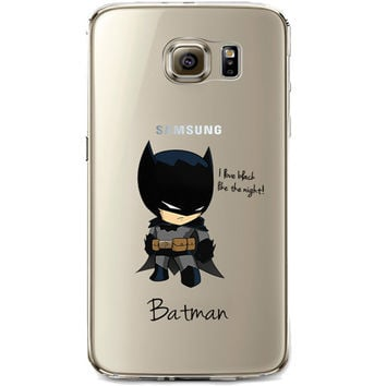 Batman Jelly Clear Case for Samsung Galaxy S6