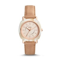 Idealist Three-Hand Sand Leather Watch