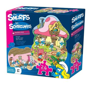 The Smurfs - Smurfette's House - 24 Piece Shaped Double Sided Floor Jigsaw Puzzle