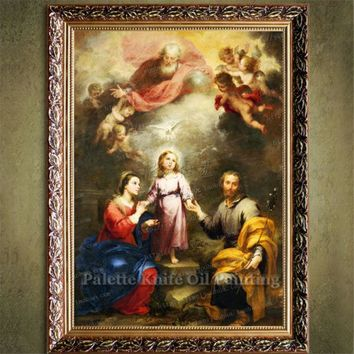 Home Decor Jesus Christ Painting Holy Trinity Painting Art Decor Painting Print Giclee Art Print On Canvas Ready to Frame 3