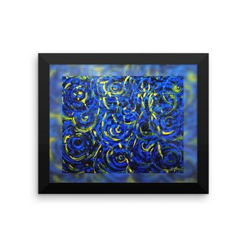 Portals on Blue Framed photo paper poster