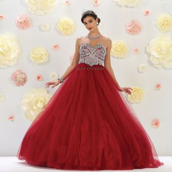 Long Prom Dress Evening Gown Quinceanera Formal