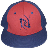 RR Red/Navy Logo Flatbill Hat