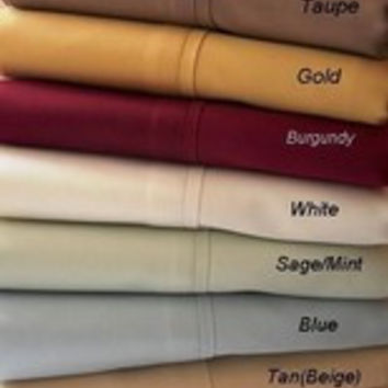 "21"" Super Deep -5 SIZES-1200TC Solid Egyptian Cotton Bed Sheet Sets Color: Gold Size: Cal King"