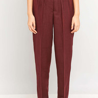 Urban Renewal Vintage Remnants Maroon Wool Trousers - Urban Outfitters