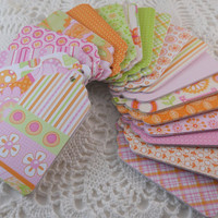 Gift Tags for Easter Baby Shower Girls Birthday Party Goody Bag Favor Label Spring Colors - 100 Tags