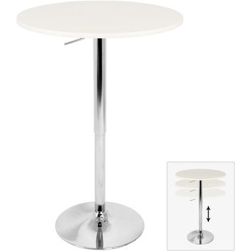 Elia Height Adjustable Bar Table, White