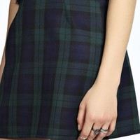 Mary Checked Woven Mini Skirt