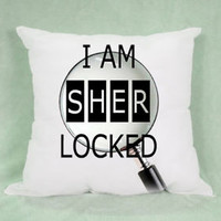 I Am Sher Locked Quotes High Quality Pillow Case Cushion 16 18 20 2 Side Cover