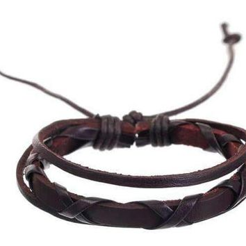 Tuscan Leather Bracelet - Brown