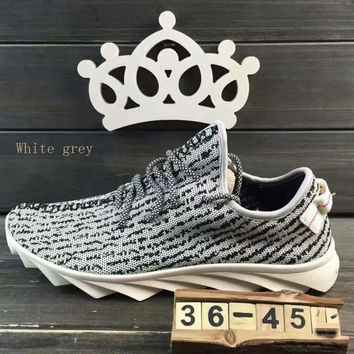 """""""ADIDAS""""Fashion running Classic coconut shoes mesh couples sports shoes White grey"""