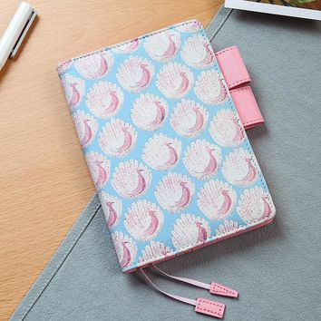 Yiwi 2018 A6 Creative Japanese Pink Peacock Classic Notebook Daily Planner Organizer Agenda Dairy Notebook HOBO Cover
