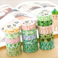 1 pcs Size 25 mm*7m DIY Fresh watercolor Leaf collection paper washi tapes/masking tape/decorative adhesive tape/School Supplies