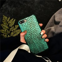 Green Crocodile Skin Case for iPhone 7 7plus/iPhone 6s plus