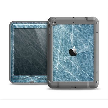 The Scratched Iced Surface Apple iPad Air LifeProof Nuud Case Skin Set