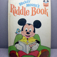 Vintage 1972 The Mickey Mouse Riddle Book by VintageWoods on Etsy