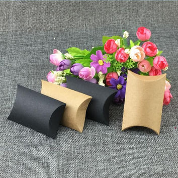 NEW DESIGN 100PCS Kraft gift box and for Jewelery Accessories Packaging  and Wedding gift box