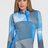 Lori's Golf Shoppe: Tail Ladies Beatriz Long Sleeve Golf Tops - PACIFIC VIEW (Velocity-Pacific)