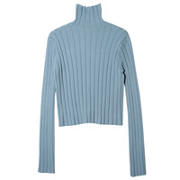 Ribbed Regular Fit Turtleneck Sweater