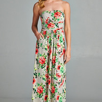 Aloha Maxi Dress - Taupe
