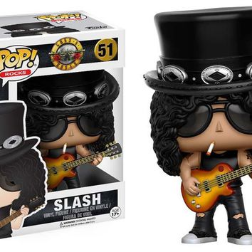 Funko Toys Guns n Roses Slash Pop Rocks Vinyl Figure