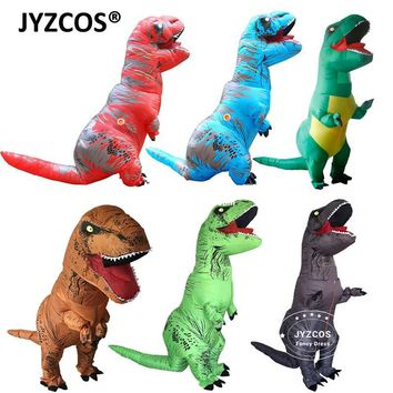 Cool JYZCOS Adult Fantasy T REX Inflatable Costume Halloween Cosplay t rex Costumes Dinosaur Costume Party Fancy Dress for Men WomenAT_93_12