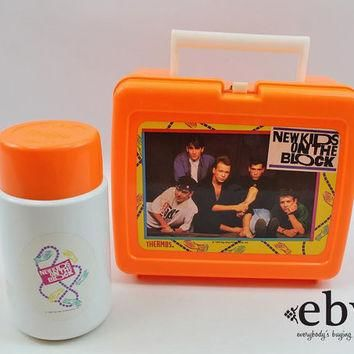 Vintage 90s New Kids on the Block Lunchbox + Thermos NKOTB Lunchbox NKOTB Thermos 90s