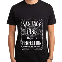 Vintage Aged Of Perfection 30th Men Tshirt