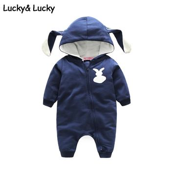 cute baby boy clothes bunny shape newborn baby clothes hooded baby girl romper