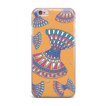 "Miranda Mol ""Tribal Fun Orange"" Abstract Tangerine iPhone Case"