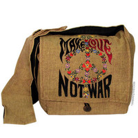 """Make Love Not War"" Messenger Bag"