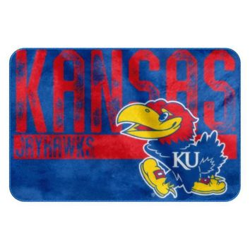 Kansas Jayhawks Worn Out Bath Mat