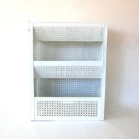 Vintage 3 Tiered Metal Mesh Storage Shelves // Vegetable Storage // Metal Organizing Kitchen Stand // Rustic Primitive Farm House bin