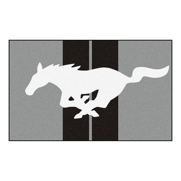 Ford Mustang Horse  4x6 Rug (46x72)