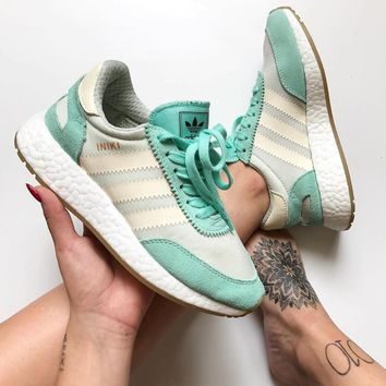 "Fashion ""Adidas"" Iniki Runner Boost Mint Green Sneakers"