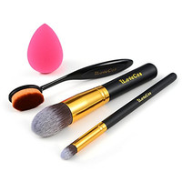 iLoveCos Makeup Brushes Set Blender Sponge Synthetic Kabuki Foundation Cosmetics Eyeliner Face Powder Toothbrush Oval Makeup Brush Kit