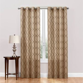 SONOMA life + style Dune Embroidered Sheer Curtain - 50'' x 95''
