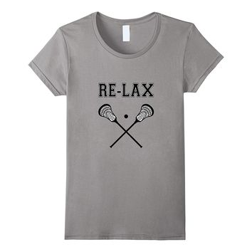 Re-Lax | Funny Lacrosse Tee Shirt