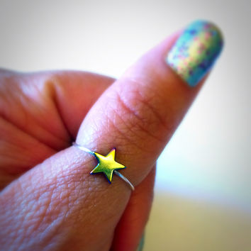 Star Thumb Ring Adjustable Thin Ring Stacking Ring